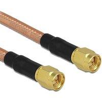Delock WiFi-antenne Aansluitkabel [1x SMA-stekker 1x SMA-stekker] 1 m Transparant