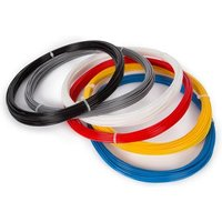 Velleman ABS175SET6 Filament ABS kunststof 1.75 mm Zwart, Wit, Rood, Zilver, Lichtblauw, Geel 300 g