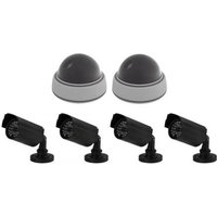 NEPCAMERA-SET 2 DOME EN 4 BULLET CAMERA'S