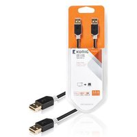 USB 2.0 kabel A male A male 3,00 m grijs (KNC60000E30)