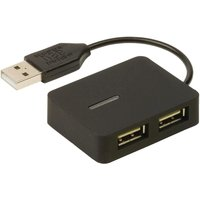 4-poorts hub USB 2.0 reisuitvoering