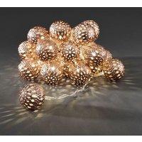 Bronskl. LED-lichtketting met ballen, ww, 24-dlg