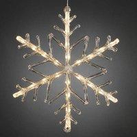 Decoratieve LED-sneeuwvlok 40 cm, 24-l.