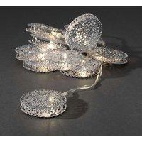 LED Decoratieve lichtsnoer met 10 zilveren siermunten, 3147-303