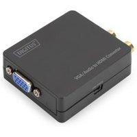 Digitus VGAaufHDMIKonverterinkl.Audioübertragung AV Converter [1x Cinch-koppeling, VGA bus 1x