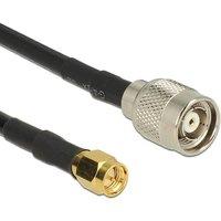DeLOCK 89513 5m RP-TNC SMA Zwart coax-kabel
