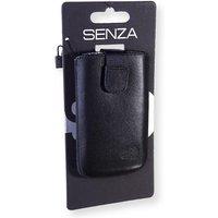 Senza Leather Slide Case Black Size S