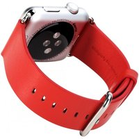 Rock Genuine Leather Watchband Apple Watch 38mm rood