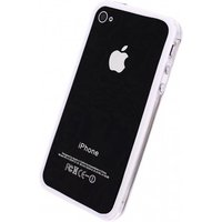Xccess Hard Bumper Case Apple iPhone 4-4S White-Transparant