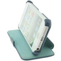 Rock Dancing Side Leather Flip Case Blue & Green iPhone 5