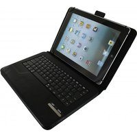 Xccess Detachable Bluetooth Keyboard Leather Stand Case Universal 9-10 Black