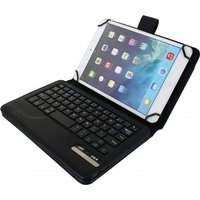 Xccess Detachable Bluetooth Keyboard Leather Stand Case Universal 7-8 Black