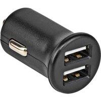 Auto oplader 4,8 A 2 USB uitgangen zwart