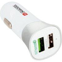 Autolader Met Dubbele Usb-aansluiting Quick Charge 3.0