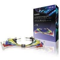 Stereo Audiokabel 6.35 mm Male 6.35 mm Male 0.50 m Donkergrijs