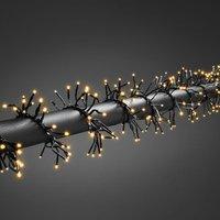 Clusterlichtketting Buiten werkt op het lichtnet LED Amber Konstsmide 3863-800