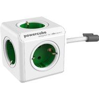 Allocacoc allocacoc PowerCube Extended incl. 1,5 m kabel groen Type F (1306GN-DEEXPC)