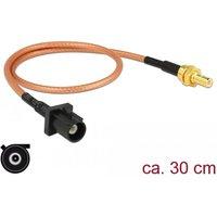 DeLOCK 89676 0.3m FAKRA A SMB Zwart, Bruin, Goud coax-kabel