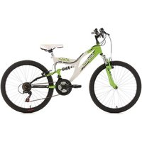 Vélos enfant KS Cycling VTT enfant tout suspendu 24'' Zodiac vert TC 38 cm KS Cycling