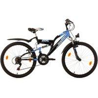 Vélos enfant KS Cycling VTT enfant tout suspendu 24'' Zodiac bleu TC 38 cm KS Cycling