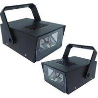 Jeux de lumière autonome Ibiza Light Pack 2 mini strobo à 20 LED Dj