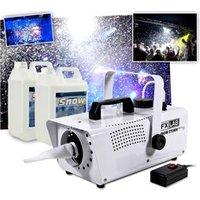 Groovemachines Fx Lab Machine à neige artificielle effet tempête de neige + 10L de liquide MEGA SOIREES