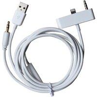 Connectique informatique Cabling 3.5 mm aux audio câble musique interface usb câble pour iphone 5 blanc