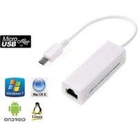 Connectique informatique Cabling Adaptateur ethernet port micro-usb 5 broches 10/100 mbit/s rj45 lan pour tablette