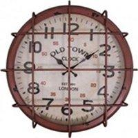 Objet de décoration Antic-line Pendule industrielle rouge vintage