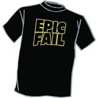 Figurines personnages Third Party T-shirt epic fail taille l
