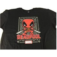 Figurines personnages Funko T-shirt marvel - deadpool red collector corps taille xl