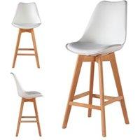 Tabouret (ANCIENNE FAMILLE 2017-09-29 13:42:20.96) Le Stock Design 2 chaises hautes tabourets design scandinave blanc - skagen