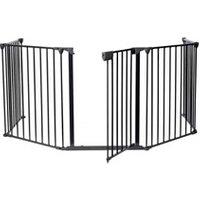 Barrière de sécurité bébé Todeco Barrière de sécurité, barrière ajustable pour cheminée, 300 x 75 cm déplié, dimensions du produit replié:  80 x 68 x 14 cm