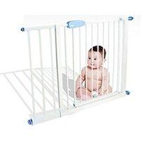 Barrière de sécurité bébé Todeco Barrière de sécurité pour bébé, barrière ajustable pour porte, 74 à 87cm, blanc, largeur:  74-87 cm