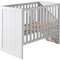 Chambre complète Maisonetstyles Lit bébé 60x120 cm en pin blanc - vicky