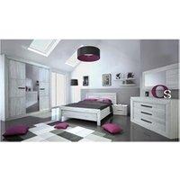 Chambre complète Tousmesmeubles Chambre adulte complète (180*200) - papeete - l 208 x l 215 x h 45/90 - neuf