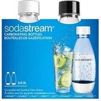 Boisson fruitée Sodastream Sodastream bouteilles de gazéification plastique blanche et noire 2x0,5l
