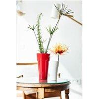 Carré potager Icaverne Jardiniere - bac a fleur pot haut rond plastique blanc brillant ø 14 cm