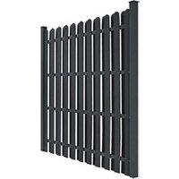 Clôture GENERIQUE Icaverne - panneaux de clôture sublime panneau de clôture avec 2 poteaux wpc 180x180 cm gris