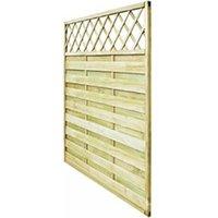 Clôture GENERIQUE Icaverne - panneaux de clôture superbe panneau de clôture de jardin avec treillis bois 180x180 cm