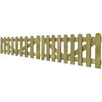 Clôture GENERIQUE Icaverne - portillons admirable portail de clôture à piquets 2 pcs bois imprégné 300x60 cm