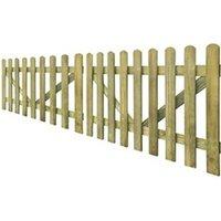 Clôture GENERIQUE Icaverne - portillons magnifique portail de clôture à piquets 2 pcs bois imprégné 300x100 cm