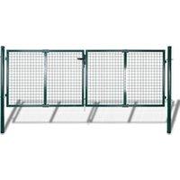 Clôture GENERIQUE Icaverne - portillons esthetique portail de clôture acier 306x150 cm vert