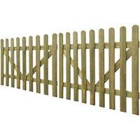 Clôture GENERIQUE Icaverne - portillons splendide portail de clôture à piquets 2 pcs bois imprégné 300x120 cm