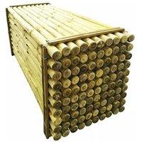 Clôture GENERIQUE Icaverne - poteaux & traverses de clôture moderne poteaux pointus de clôture 100 pcs bois imprégné 8x240 cm