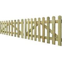 Clôture GENERIQUE Icaverne - portillons superbe portail de clôture à piquets 2 pcs bois imprégné 300x80 cm