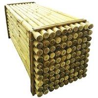 Clôture GENERIQUE Icaverne - poteaux & traverses de clôture esthetique poteaux pointus de clôture 100 pcs bois imprégné 6x240 cm