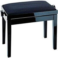 Accessoire Claviers et Pianos Konig & Meyer Konig & meyer 13901 banquette piano noir brillant avec assise en velours noir