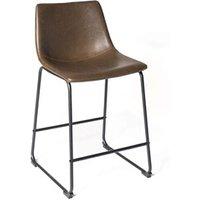 Tabouret (ANCIENNE FAMILLE 2017-09-29 13:42:20.96) Kayelles Chaises de bar vintage industriel, cuisine helio 61 (marron)