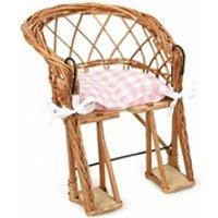 Vélos enfant Egmont Toys Chaise de velo en osier avec coussin rose